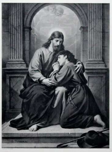 The Consoling of Christ by Bernard Plockhorst