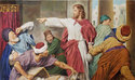 Jesus with the Money Lenders by William Luberoff