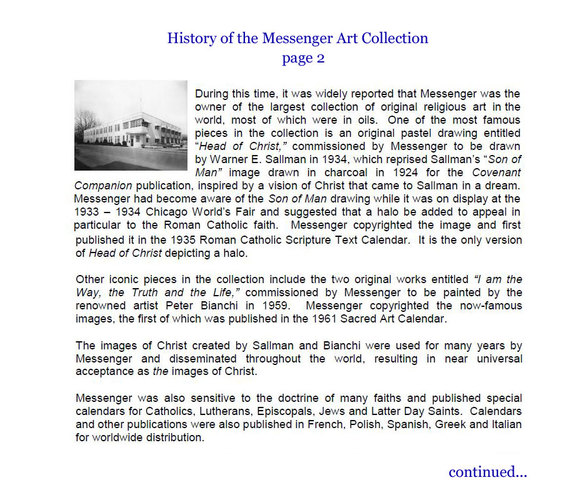 History of the Messenger Art Collection