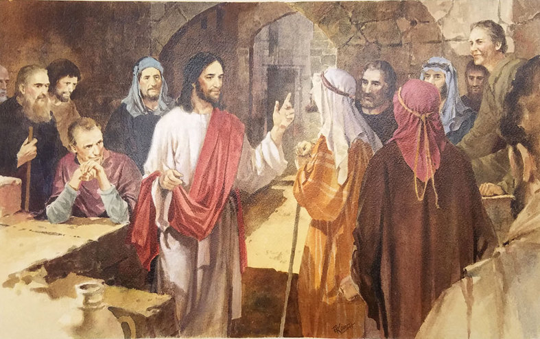 Christ Teaching his Disciples by R. Karch