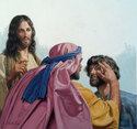 Jesus Comforts Sick Man by Bill Gregg